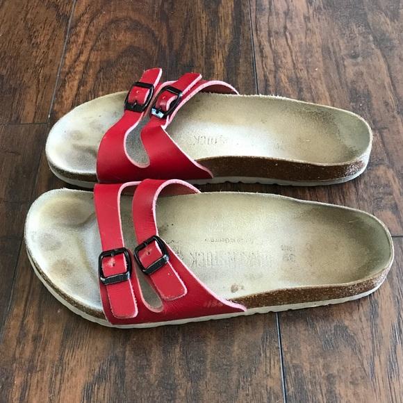 f9385a63ce7 Birkenstock Shoes - Red Ibiza double strap birkenstocks